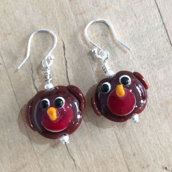 Christmas Robin earrings