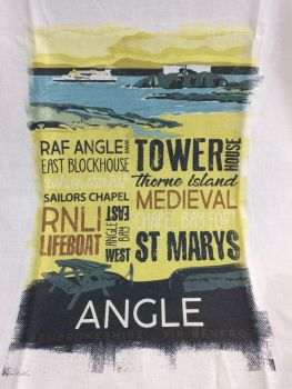 Angle Village Tea Towel