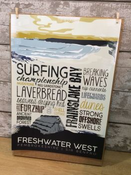 A2 Freshwater West Poster