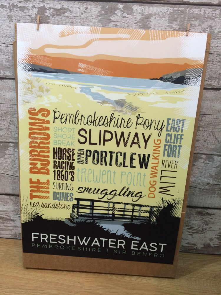 A2 Freshwater East Poster