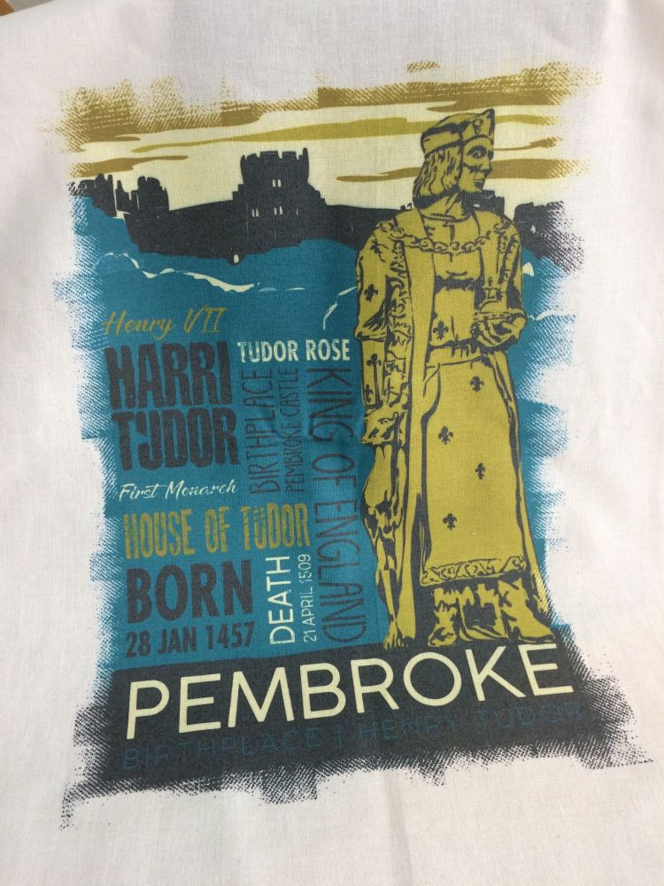 Pembroke, Henry Tudor Tea Towel