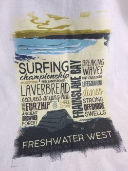 Freshwater West Tea Towel