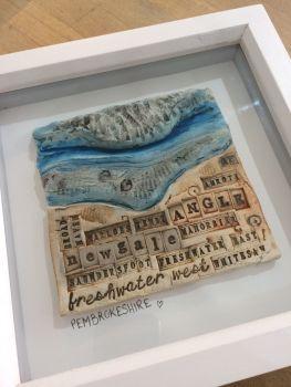 Pembrokeshire Beaches Ceramic Box Frame