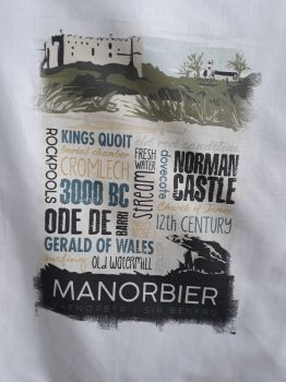 Manorbier Tea Towel