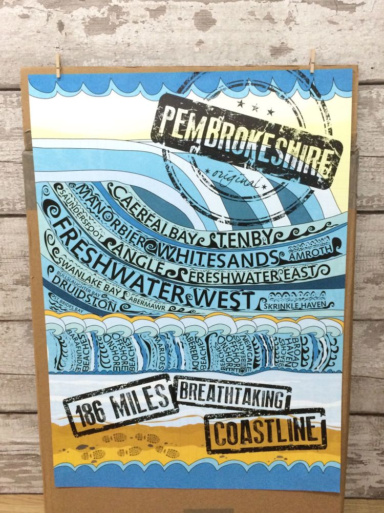 A2 Pembrokeshire Coastpath Poster