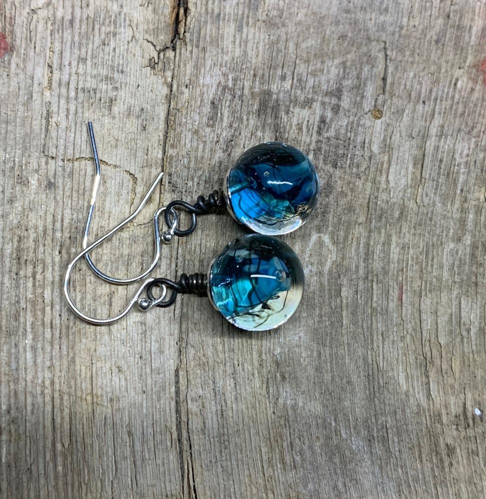 Turquoise bauble earrings