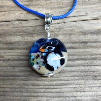 'Curious Puffin' pendant