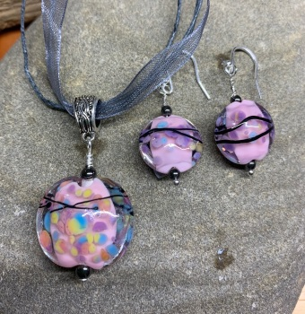 Blossom, necklace and earrings set