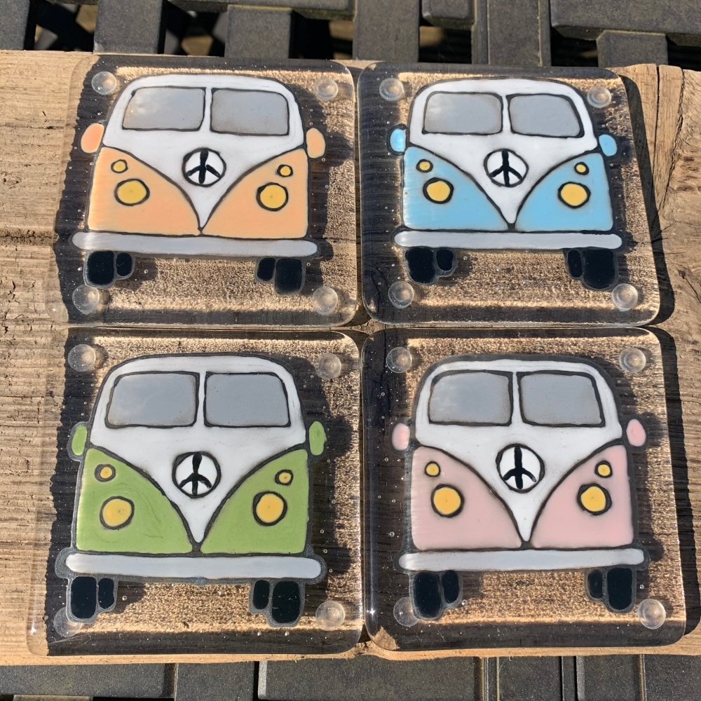 Quirky camper van coasters