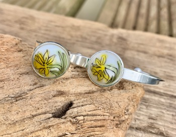 Daffodil , bangle and ring set