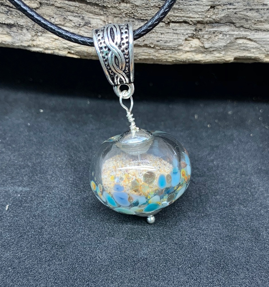 'Sand Sphere' pendant, blues