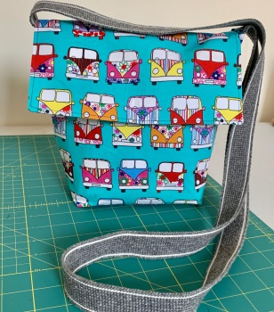 Camper van cross-body bag