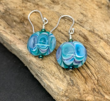 'Peacock' earrings