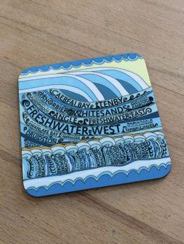 Pembrokeshire Beaches Coaster