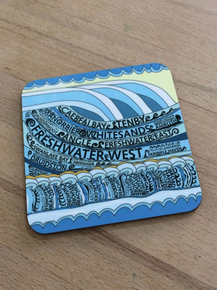Pembrokeshire Beaches Coaster