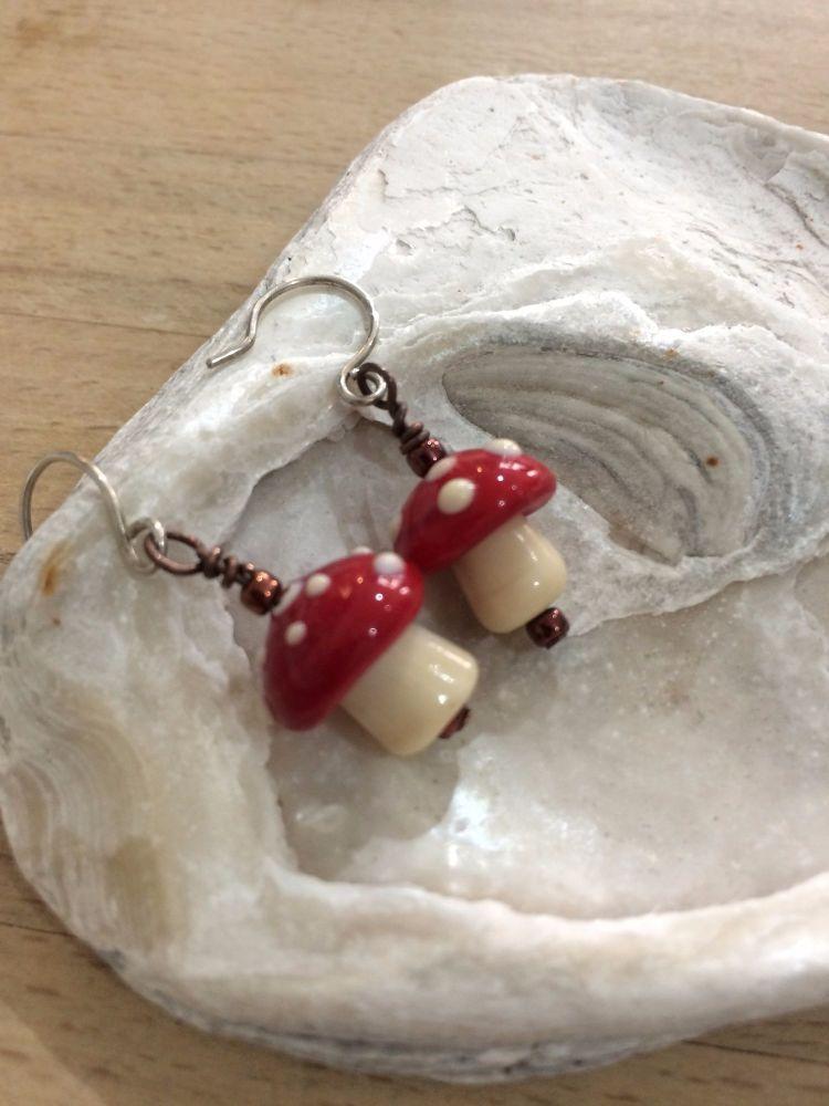 Toadstool Mushroom Earrings