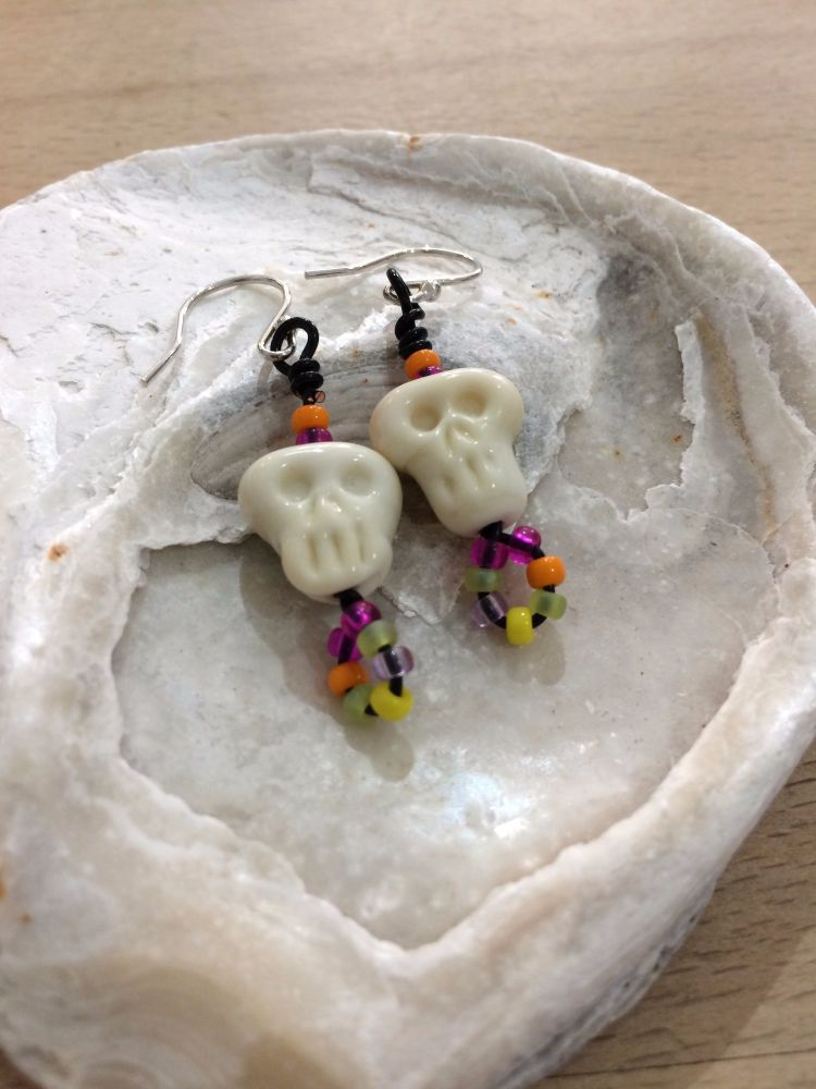 'Day of the Dead' Mexican Skull Earrings