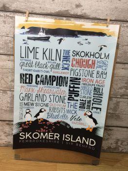A2 Skomer Island Poster