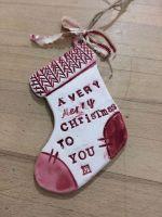'A Very Merry Christmas To You' Ceramic Christmas Stocking