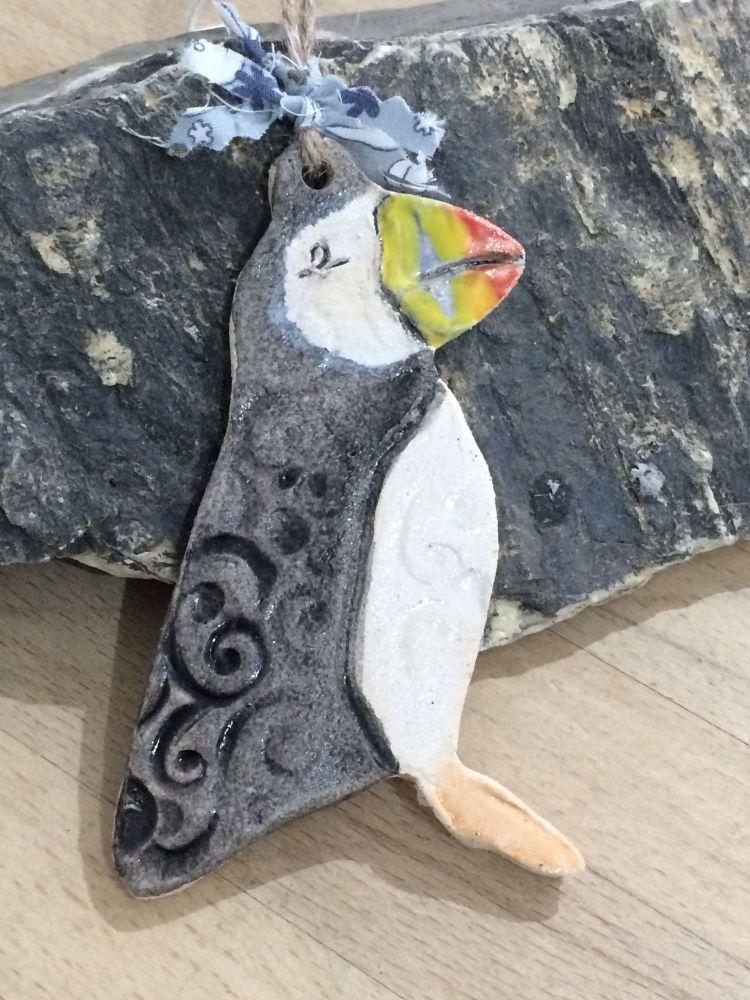 Ceramic Puffin Hanger