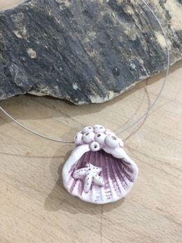 'Rockpool' Ceramic Pendant Necklace