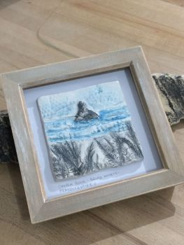 'Church Rock' Broad Haven South, Pembrokeshire Ceramic Box Frame