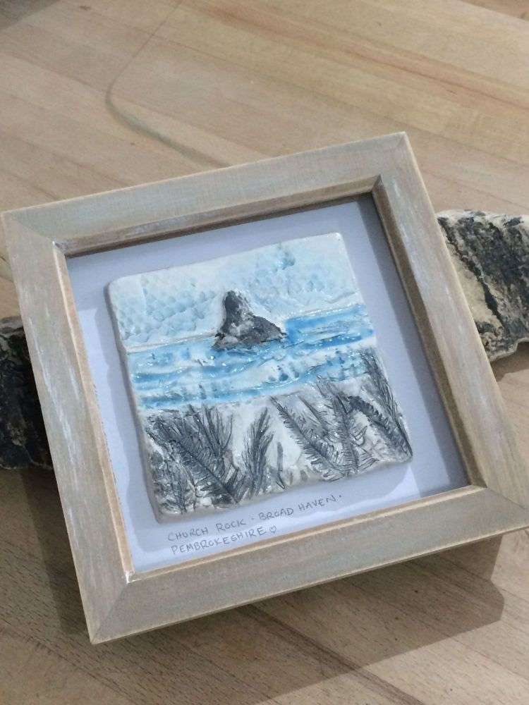 'Church Rock' Broad Haven Ceramic Box Frame