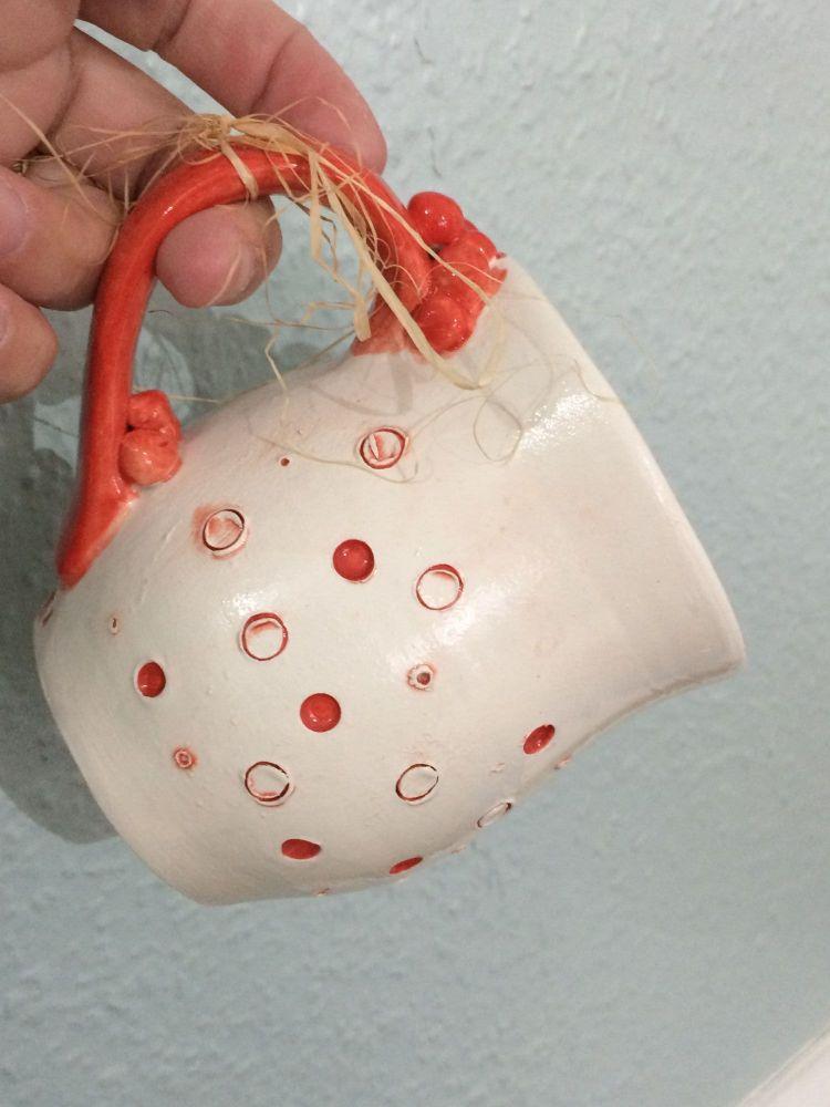 Red Berry Ceramic Mug