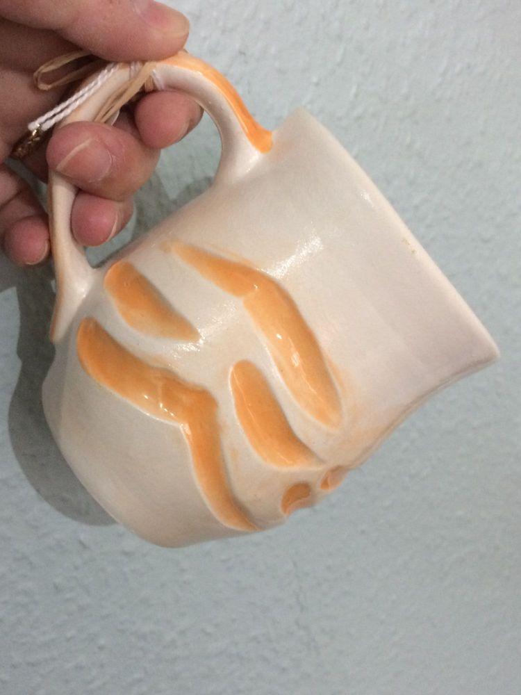 Orange Wave Ceramic Mug