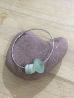 Sea Glass & Ceramic Bead Bracelet