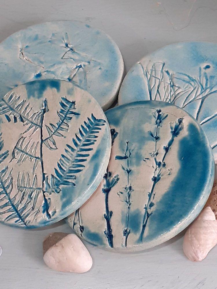 Foliage Coasters, Set of 4.