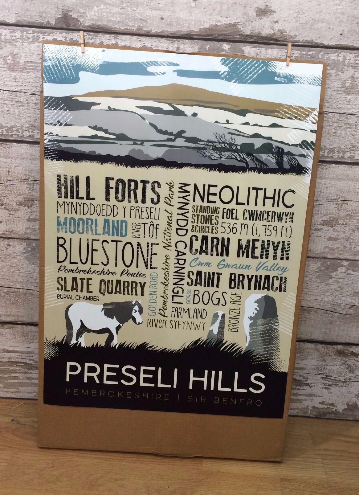 A2 Preseli Hills Poster