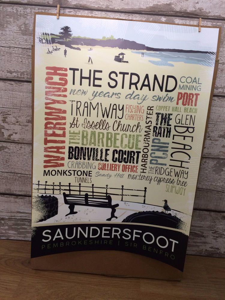 A2 Saundersfoot Poster