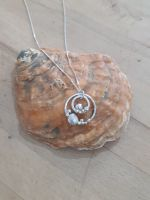 Cockle Shell & Pebbles Silver Necklace