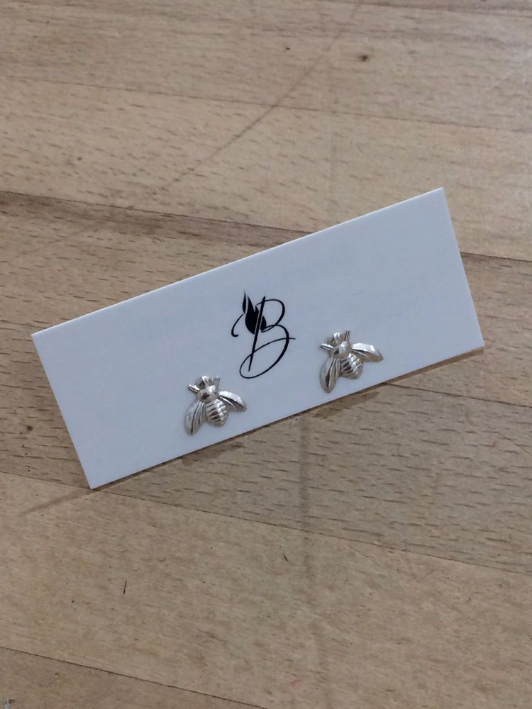 Bumble Bees Silver Studs