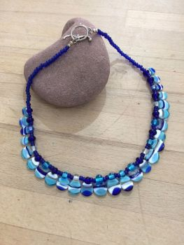 Wave Scalloped Beaded Necklace