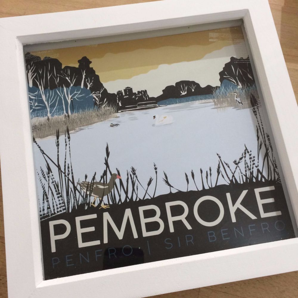 Pembroke Millpond, Pembrokeshire Box Frame