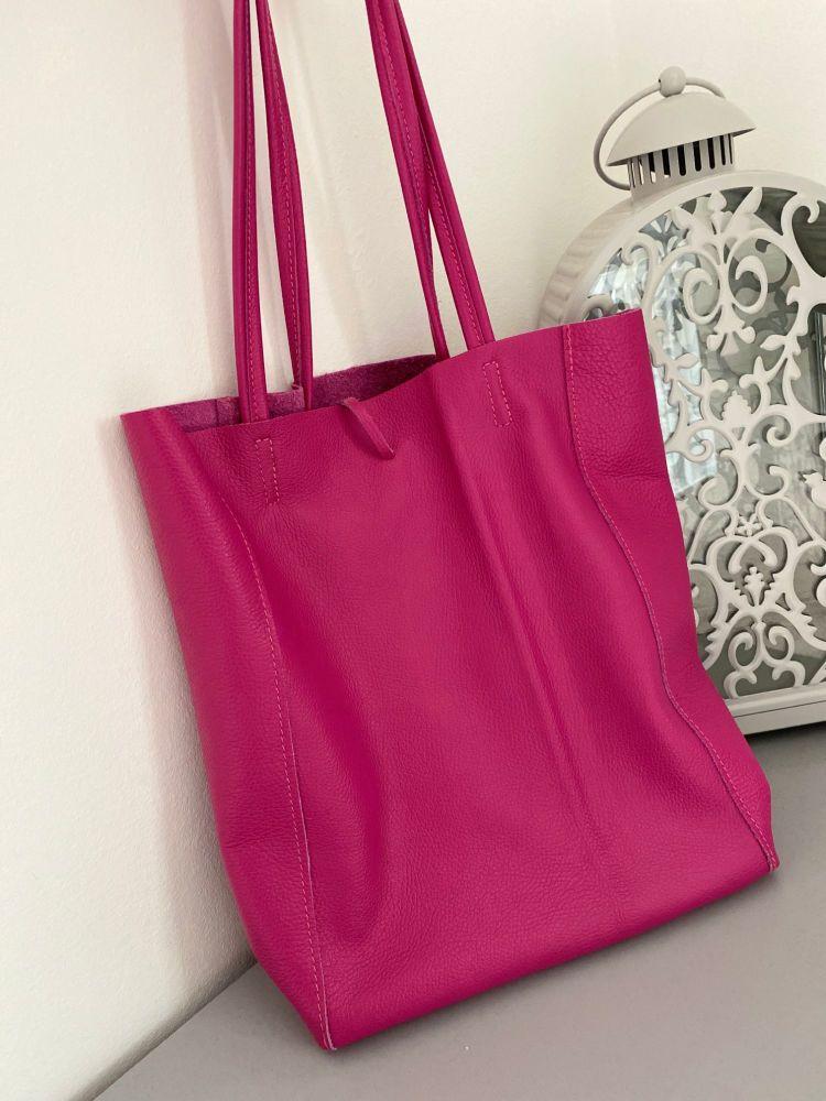 Genuine Italian Leather Shopper Bag