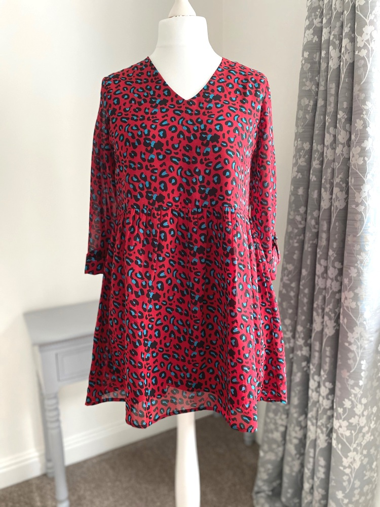 Red Animal Print Tunic