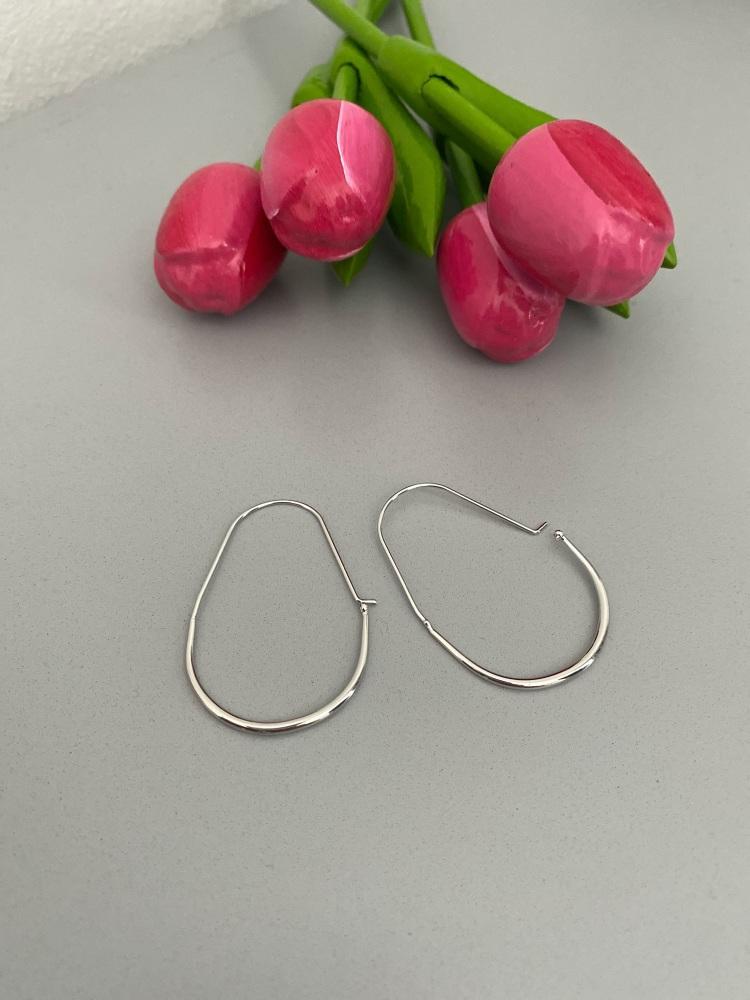 Contemporary Hoop Earrings with Hook Closure