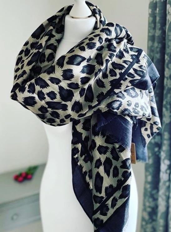 Large Leopard Animal Print Scarf