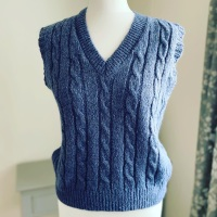 Snuggly Cable Knit Tank Top