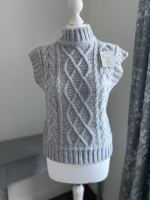 Knitted High Neck Tank Top / Sleeveless Jumper