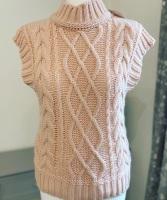 Knitted High Neck Tank Top / Sleeveless Jumper