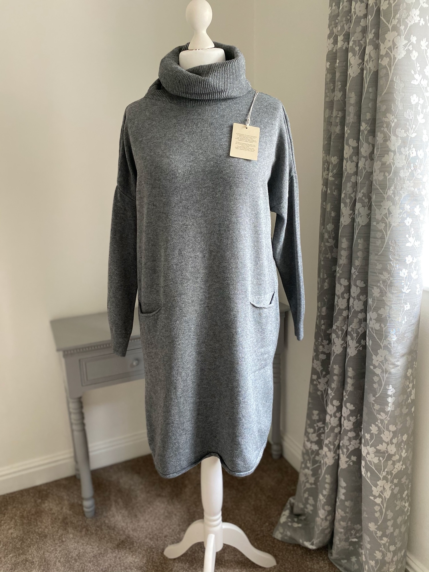 grey jumper dress 2