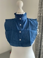 Denim Frill Style Detachable Collar