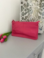 Small Genuine Leather Pink Crossbody Bag