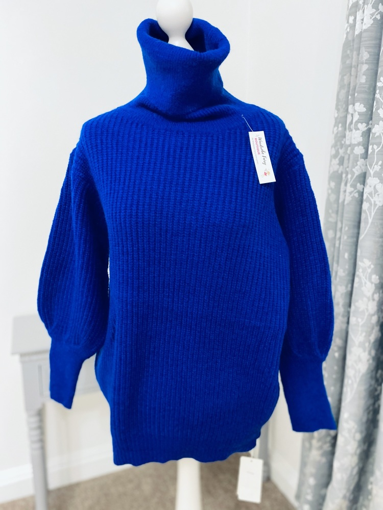 Electric Blue Snuggly Soft Knit Jumper