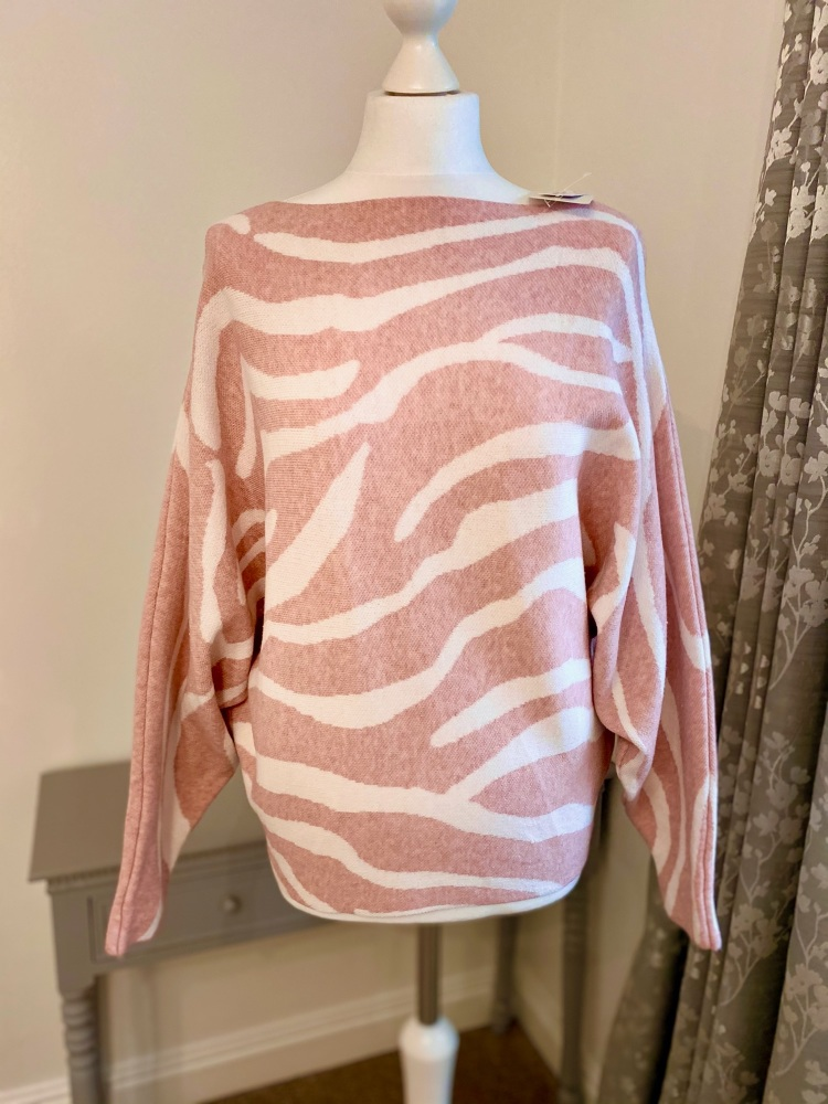 Pink Zebra Print Jumper