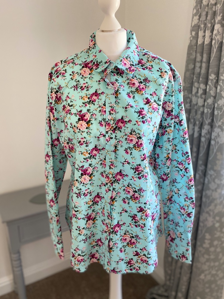 Turquoise Floral Shirt